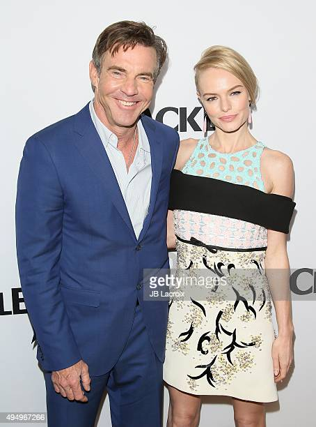 Actor Dennis Quaid and actress Kate Bosworth attend the premiere of Crackle's 'The Art Of More' at Sony Pictures Studios on October 29 2015 in Culver...