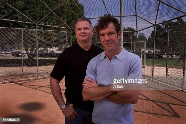 Actor Dennis Quaid and baseball pitcher Jim Morris Dennis Quaid stars as baseball pitcher Jim Morris in the new disney film The rookie Jim Morris was...