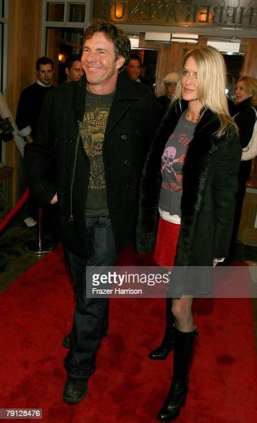 Actor Dennis Quaid and Kimberly Buffington attend Groundswell Productions' Sundance Party held during the 2008 Sundance Film Festival on January 19...