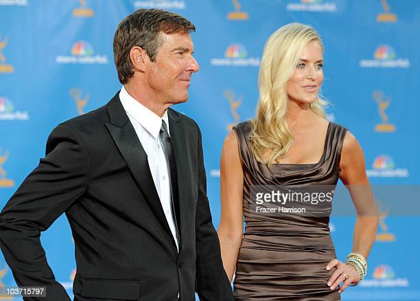 Actor Dennis Quaid and Kimberly Quaid arrive at the 62nd Annual Primetime Emmy Awards held at the Nokia Theatre LA Live on August 29 2010 in Los...