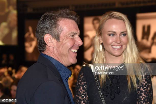 Actor Dennis Quaid and Santa Auzina attend Muhammad Ali's Celebrity Fight Night XXIII at the JW Marriott Desert Ridge Resort Spa on March 18 2017 in...