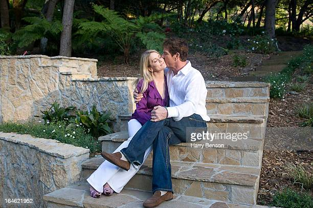 Actor Dennis Quaid and wife Kimberly are photographed for Architectural Digest in 2008 in Los Angeles California
