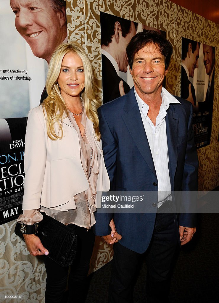 Actor Dennis Quaid (R) and wife Kimberly Buffington attend the Los Angeles premiere of HBO Film's 'The Special Relationship' at the Directors Guild Theatre on May 19, 2010 in West Hollywood, California.