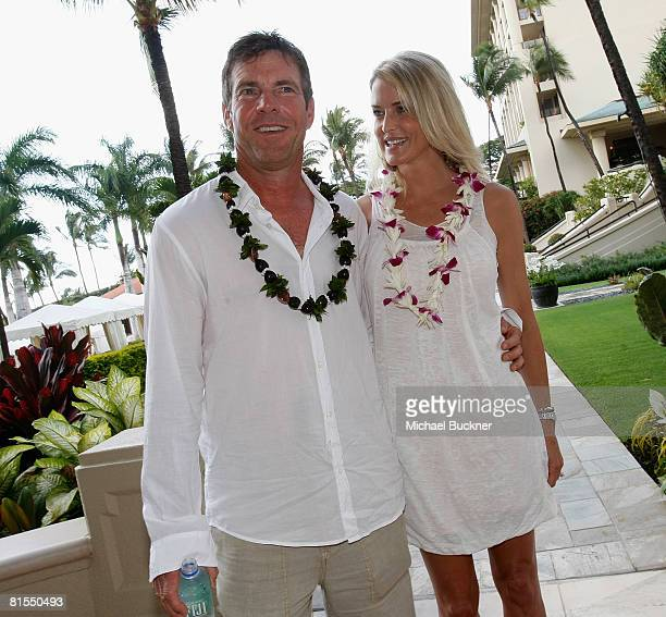 Actor Dennis Quaid and wife Kimberly Quaid attend the 2008 Maui Film Festival at the Four Seasons on June 12 2008 in Maui Hawaii