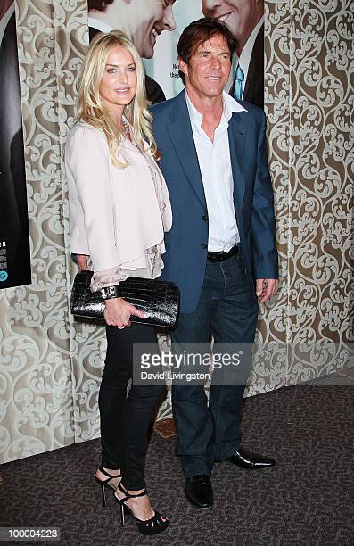 Actor Dennis Quaid and wife Kimberly Quaid attend the premiere of HBO Films The Special Relationship at the Directors Guild of America on May 19 2010...