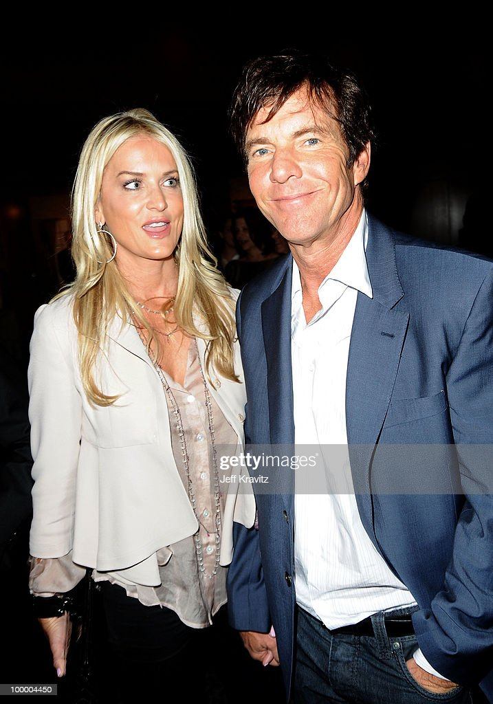 Actor Dennis Quaid (R) and wife Kimberly Quaid attens the HBO premiere of 'The Special Relationship' after party held at Directors Guild Of America on May 19, 2010 in Los Angeles, California..