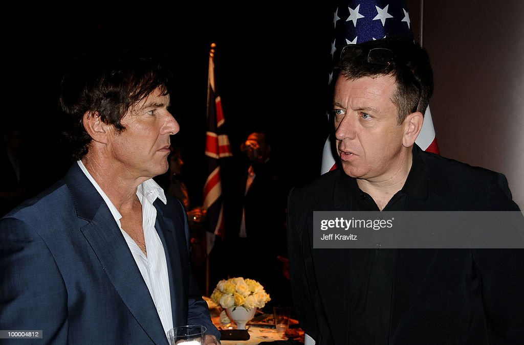 Actor Dennis Quaid and writer Peter Morgan attend the HBO premiere of 'The Special Relationship' after party held at Directors Guild Of America on May 19, 2010 in Los Angeles, California..