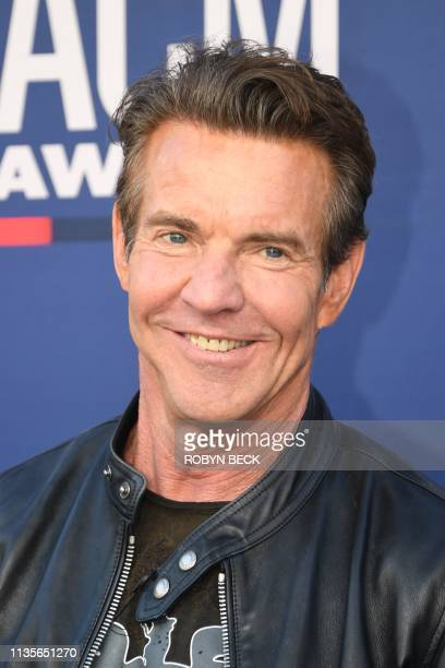 US actor Dennis Quaid arrives for the 54th Academy of Country Music Awards on April 7 at the MGM Grand Garden Arena in Las Vegas Nevada