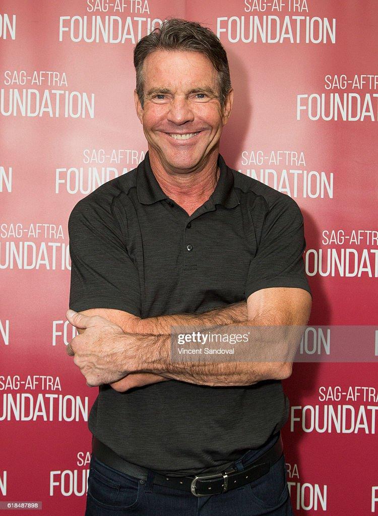Actor Dennis Quaid attends a career retrospective for SAG-AFTRA Foundation Conversations at SAG Foundation Actors Center on October 26, 2016 in Los Angeles, California.