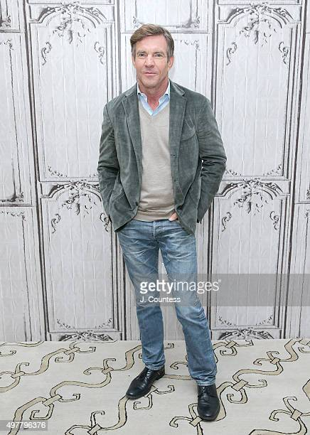 Actor Dennis Quaid attends AOL BUILD presents The Art of More at AOL Studios In New York on November 18 2015 in New York City