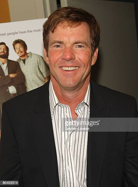Actor Dennis Quaid attends Smart People screening hosted by the Cinema Society Linda Wells at the Landmark Sunshine Theater on March 31 2008 in New...