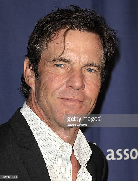 Actor Dennis Quaid attends the Alzheimer's Association's 17th annual A Night at Sardi's fundraiser at the Beverly Hilton Hotel on March 4 2009 in...