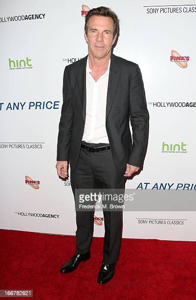 Actor Dennis Quaid attends the premiere of Sony Pictures Classics' 'At Any Price' at the Egyptian Theatre on April 16 2013 in Hollywood California