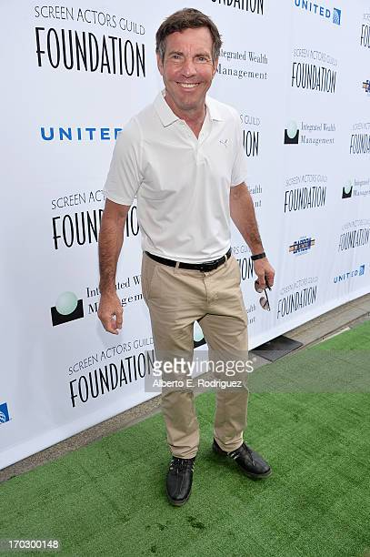 Actor Dennis Quaid attends the Screen Actors Guild Foundation 4th Annual Los Angeles Golf Classic at Lakeside Golf Club on June 10 2013 in Burbank...