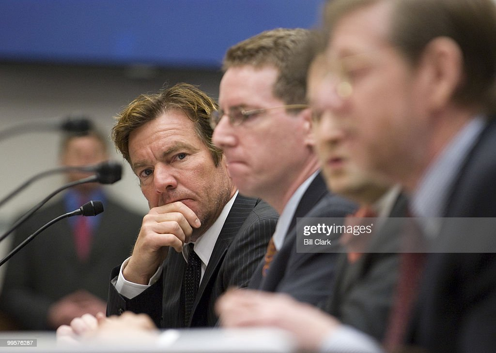 Actor Dennis Quaid listens as other witnesses testify during the House Oversight and Government Reform Committee hearing on 'Should FDA (Food and Drug Administration) Drug and Medical Device Regulation Bar State Liability Claims?' on Wednesday, May 14, 2008. Dennis Quaid and his wife Kimberly, parents of newborn twins, Thomas Boone Quaid and Zoe Grace Quaid, who were victims of a heparin overdose.