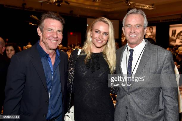 Actor Dennis Quaid Santa Auzina and radio host Robert F Kennedy Jr attend Muhammad Ali's Celebrity Fight Night XXIII at the JW Marriott Desert Ridge...
