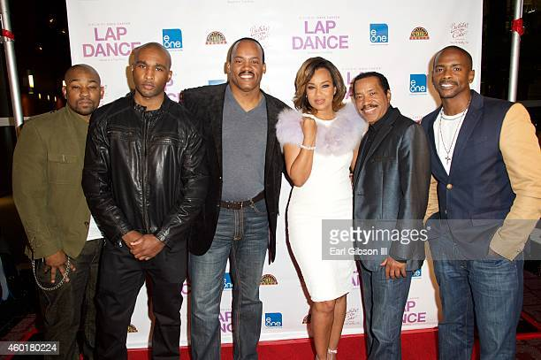 Actor Dennis White Actor/Director Datari Turner Producer Greg Carter Actress LisaRaye McCoy Actor Obba Babatunde and Actor Keith Robinson pose for a...