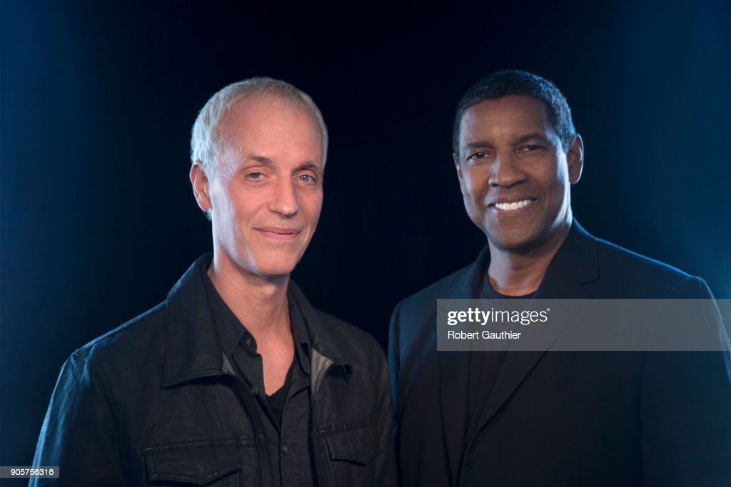 Actor Denzel Washington and director Dan Gilroy are photographed for Los Angeles Times on November 4, 2017 in Beverly Hills, California. PUBLISHED IMAGE.