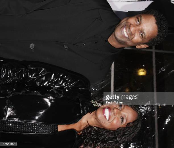 """Actor Denzel Washington and his wife Pauletta Pearson arrive at an industry screening of Universal Picture's and Imagine Entertainment's """"American..."""