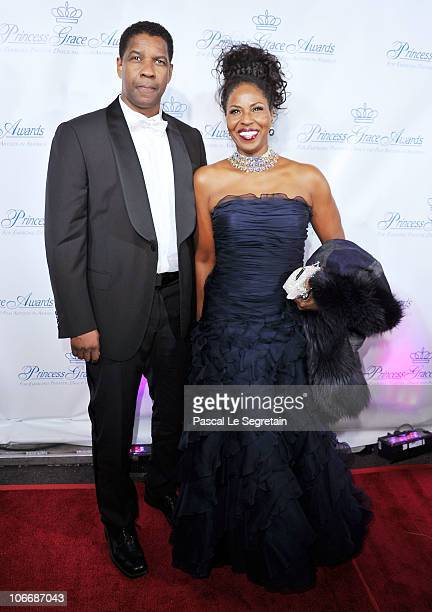 Actor Denzel Washington and Pauletta Washington attend The 2010 Princess Grace Awards Gala at Cipriani 42nd Street on November 10, 2010 in New York...