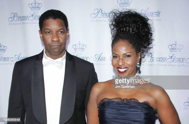 Actor Denzel Washington and Pauletta Washington attend the 2010 Princess Grace Awards Gala at Cipriani 42nd Street on November 10 2010 in New York...