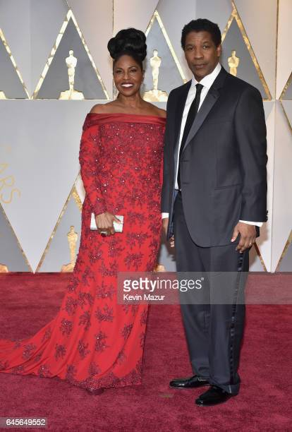 Actor Denzel Washington and Pauletta Washington attend the 89th Annual Academy Awards at Hollywood Highland Center on February 26 2017 in Hollywood...