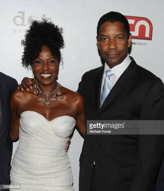 Actor Denzel Washington and wife Pauletta Pearson arrive at the 10th Annual Harold Pump Foundation Gala at the Hyatt Regency Century Plaza on August...