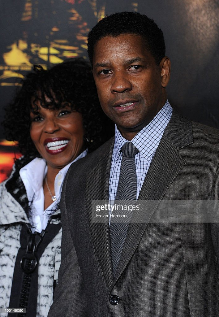 Actor Denzel Washington and wife Pauletta Washington arrive at the premiere of Twentieth Century Fox's 'Unstoppable' at Regency Village Theater on October 26, 2010 in Westwood, California.