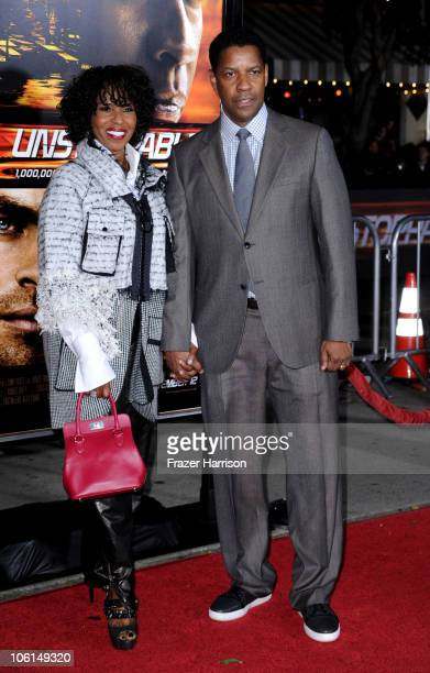 Actor Denzel Washington and wife Pauletta Washington arrive at the premiere of Twentieth Century Fox's Unstoppable at Regency Village Theater on...