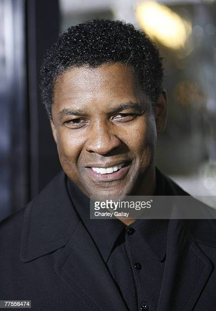 Actor Denzel Washington arrives at the industry screening for Universal's 'American Gangster' at the Arclight October 29 2007 in Hollywood California