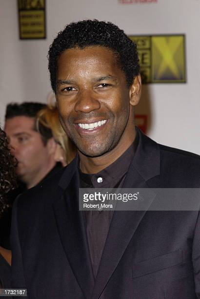 Actor Denzel Washington attends the 8th Annual Critics' Choice Awards at the Beverly Hills Hotel on January 17 2003 in Beverly Hills California The...