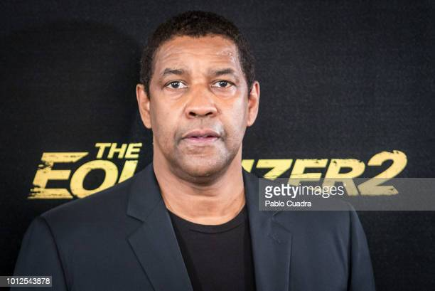 Actor Denzel Washington attends 'The Equalizer 2' photocall at the Villamagna Hotel on August 7, 2018 in Madrid, Spain.