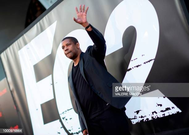 Actor Denzel Washington attends The Equalizer 2 Premiere at the TCL Chinese Theater on July 17 in Hollywood California