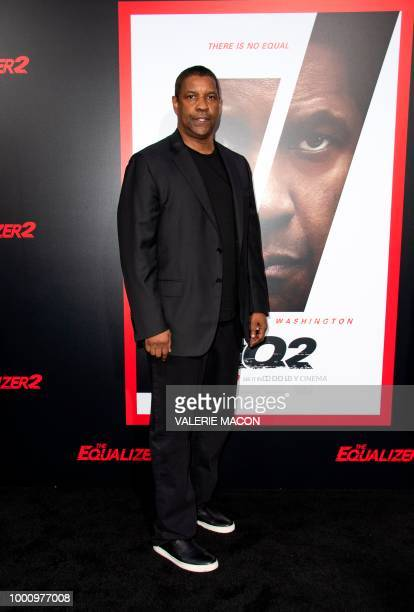 Actor Denzel Washington attends The Equalizer 2 Premiere at the TCL Chinese Theater, on July 17 in Hollywood, California.