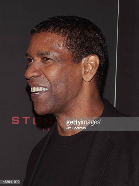 Actor Denzel Washington attends The Equalizer New York Screening at AMC Lincoln Square Theater on September 22 2014 in New York City