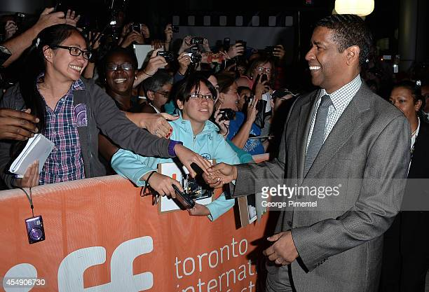 Actor Denzel Washington attends The Equalizer premiere during the 2014 Toronto International Film Festival at Roy Thomson Hall on September 7 2014 in...