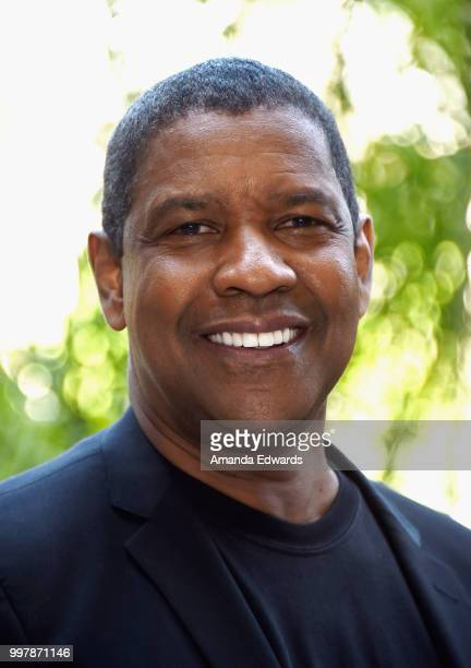 "Actor Denzel Washington attends the photo call for Columbia Pictures' ""The Equalizer 2"" on July 13, 2018 in Los Angeles, California."