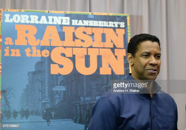 Actor Denzel Washington attends the 'Raisin In The Sun' cast press preview at The Rose Building on February 18 2014 in New York City