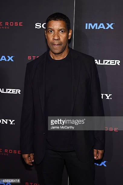 Actor Denzel Washington attends the The Equalizer New York premiere at AMC Lincoln Square Theater on September 22 2014 in New York City