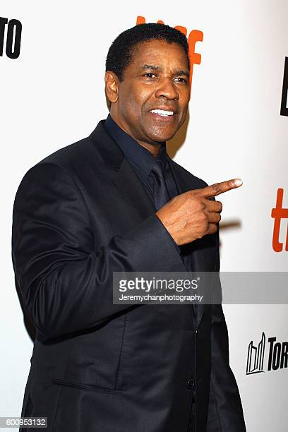 Actor Denzel Washington attends the 'The Magnificent Seven' premiere held at Roy Thomson Hall during the Toronto International Film Festival on...