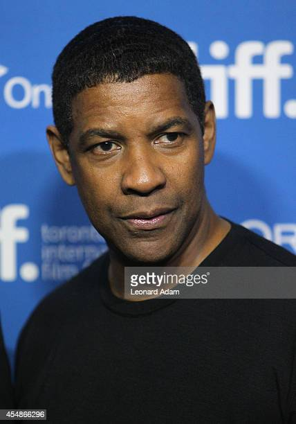 Actor Denzel Washington poses at The Equalizer Press Conference during the 2014 Toronto International Film Festival at TIFF Bell Lightbox on...