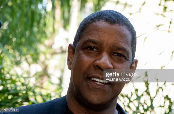 Actor Denzel Washington poses during the 'Equalizer 2' photo call on July 13 in Beverly Hills California