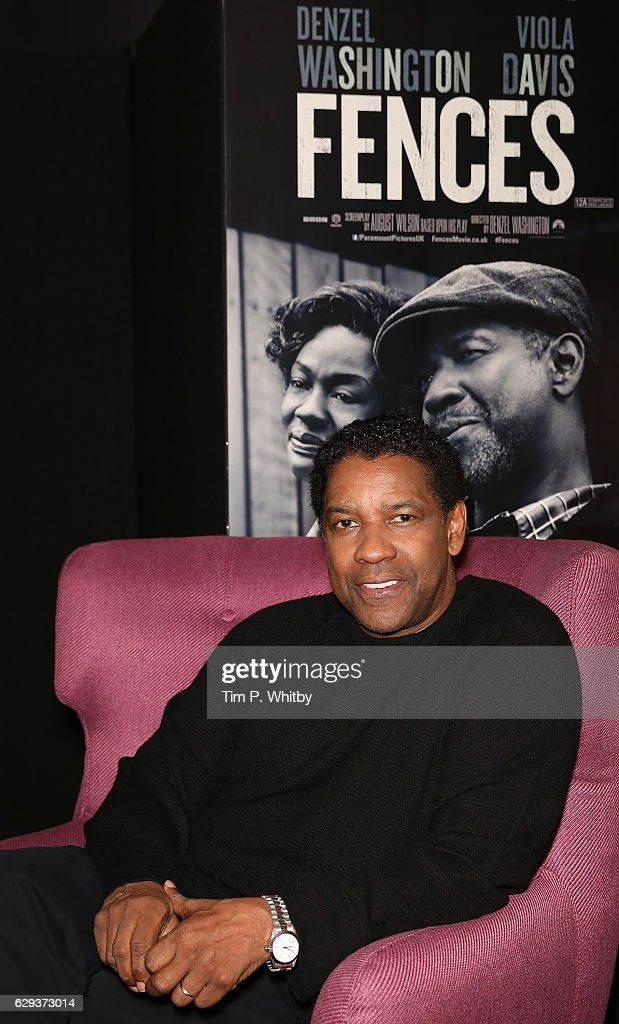 Actor Denzel Washington poses for a photo prior to attending a Q and A for a private screening of 'Fences' at The Curzon Mayfair on December 12, 2016 in London, England.