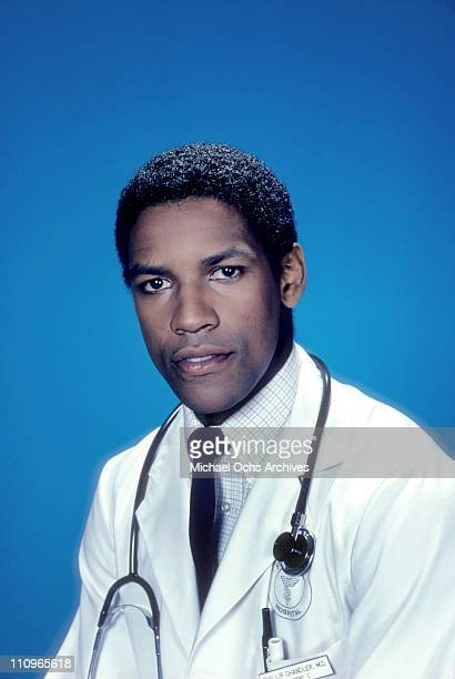 Actor Denzel Washington poses for a publicity still for his TV show 'St. Elswhere' in May 1982 in Los Angeles, California.