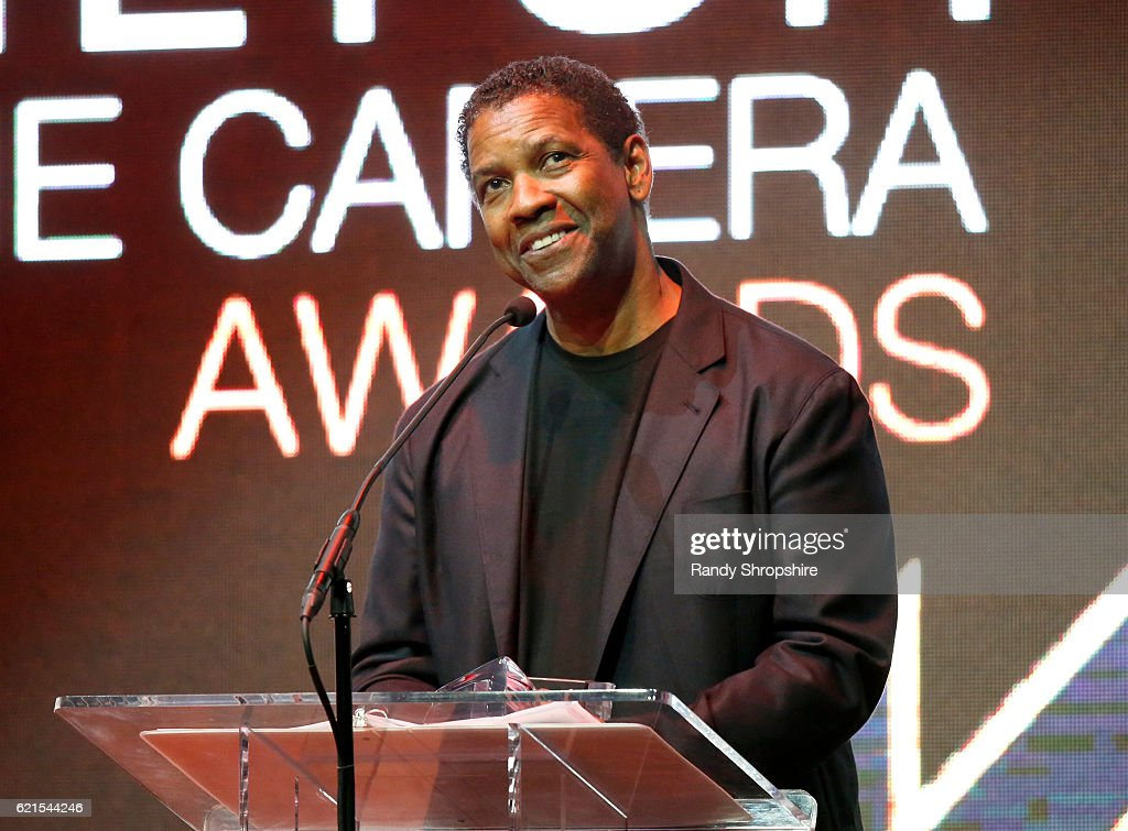 Actor Denzel Washington speaks onstage during the Hamilton Behind The Camera Awards presented by Los Angeles Confidential Magazine at Exchange LA on November 6, 2016 in Los Angeles, California. at Exchange LA on November 6, 2016 in Los Angeles, California.