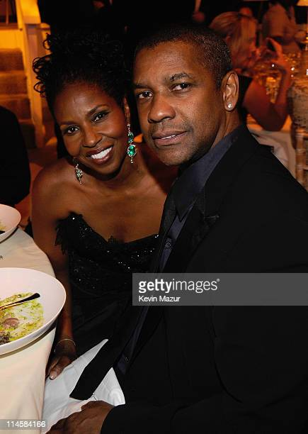 Actor Denzel Washington with his wife Pauletta Pearson during the 10th Annual White Tie and Tiara Ball to Benefit the Elton John Aids Foundation in...