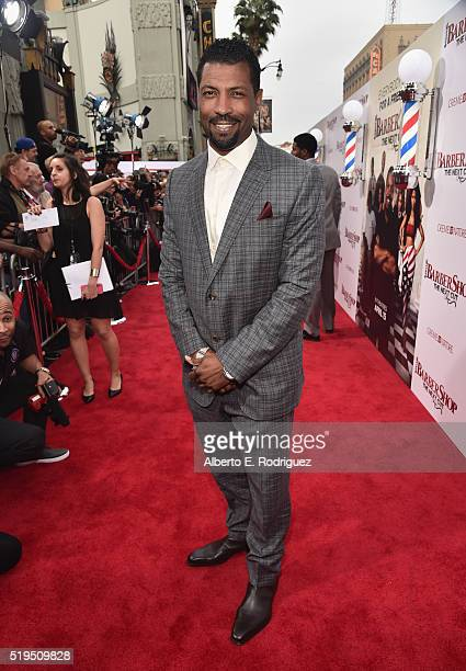 Actor Deon Cole attends the premiere of New Line Cinema's Barbershop The Next Cut at the TCL Chinese Theatre IMAX on April 6 2016 in Hollywood...