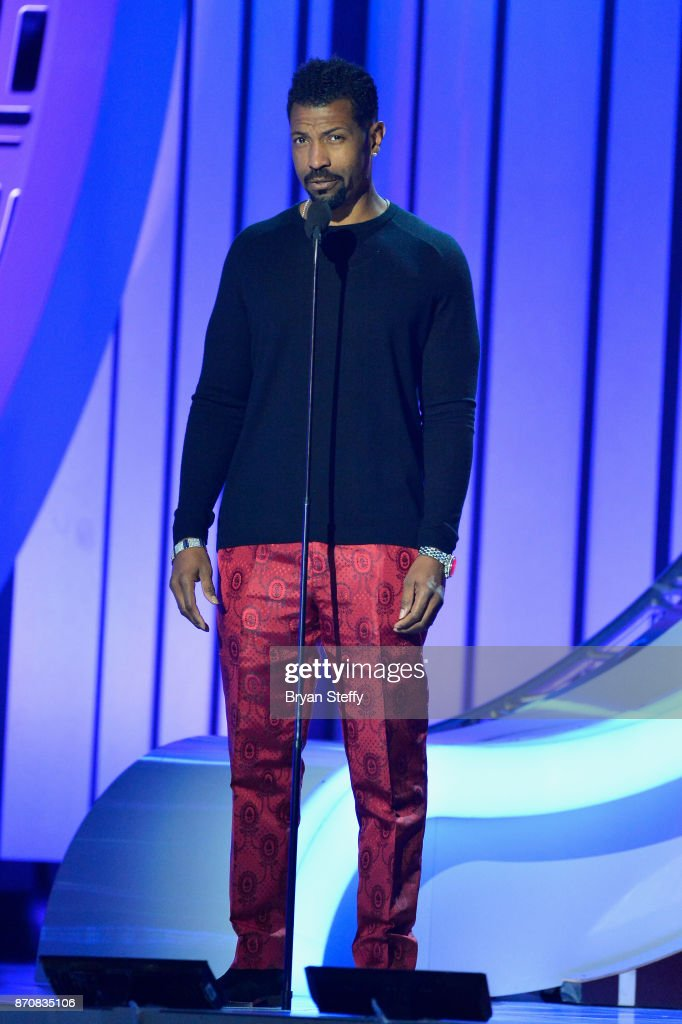 Actor Deon Cole speaks during the 2017 Soul Train Music Awards at the Orleans Arena on November 5, 2017 in Las Vegas, Nevada.