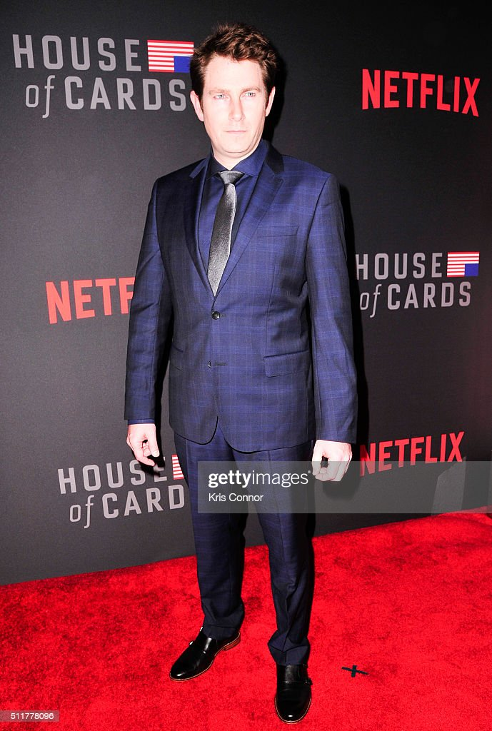 Actor Derek Cecil attends the 'House Of Cards' Season 4 Premiere at the National Portrait Gallery on February 22, 2016 in Washington, DC.