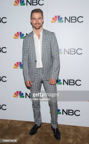 Actor Derek Hough attends the NBC and The Cinema Society Party for the casts of NBC's 20182019 Season at the Four Seasons Restaurant on September 20...